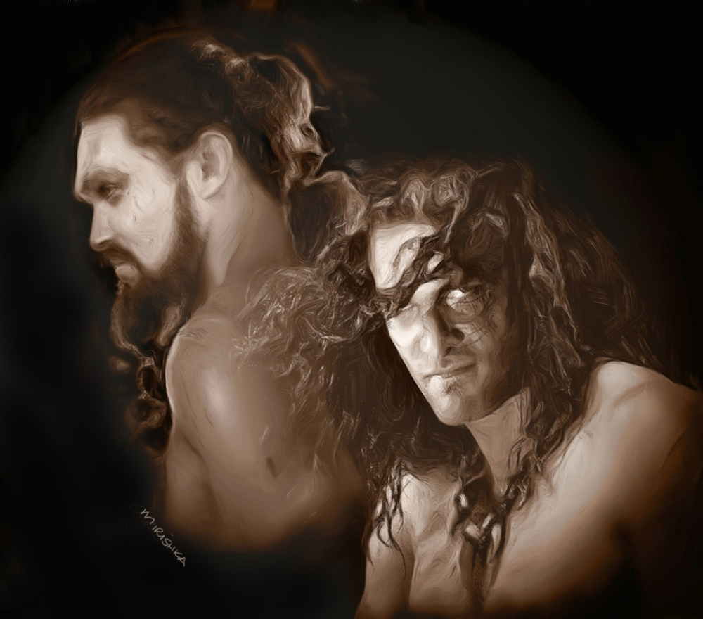 new drogo and conan_Painting